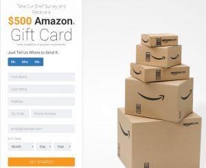 Amazon Gift Card Survey