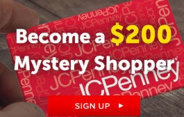 JCPenney Free Gift Card Mystery Shopper