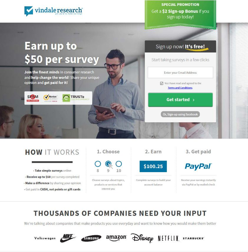 VindaleResearch Make Money with Paid Surveys Online