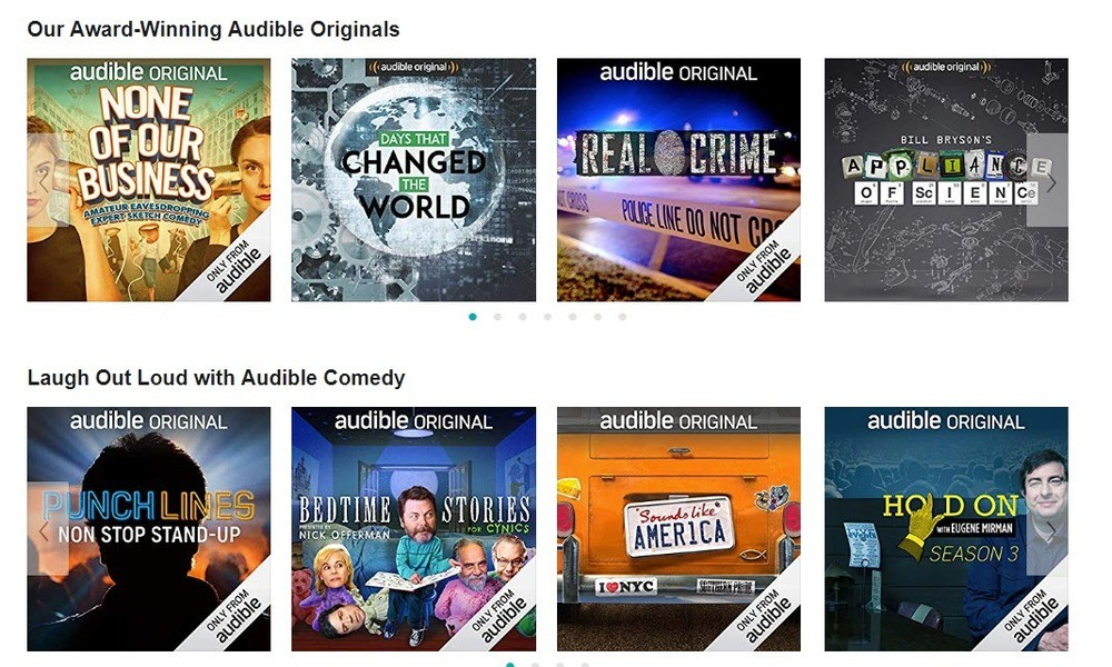 Audible comedy podcasts