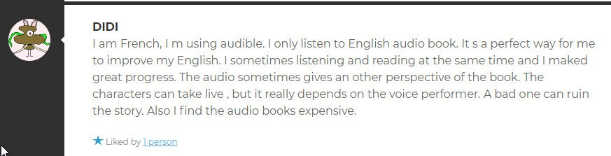 Audible review about audio books
