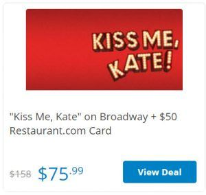 Kiss me Kate on Broadway Cheap Tickets