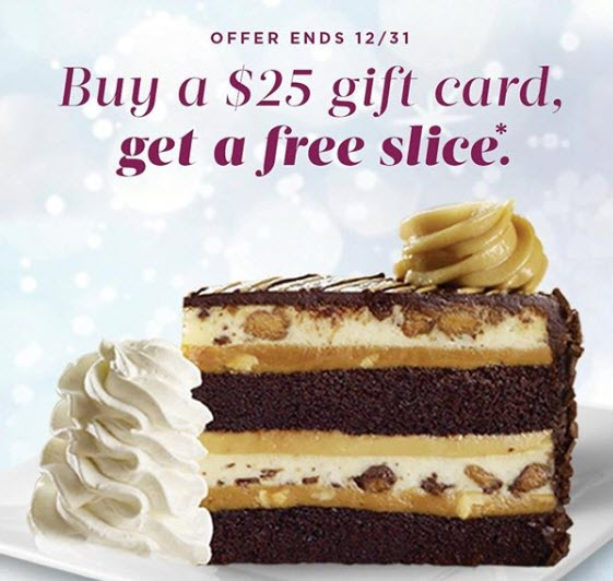 Cheesecake Factory Deals