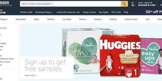 Amazon free baby diaper samples