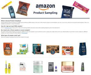 Amazon product samples for free