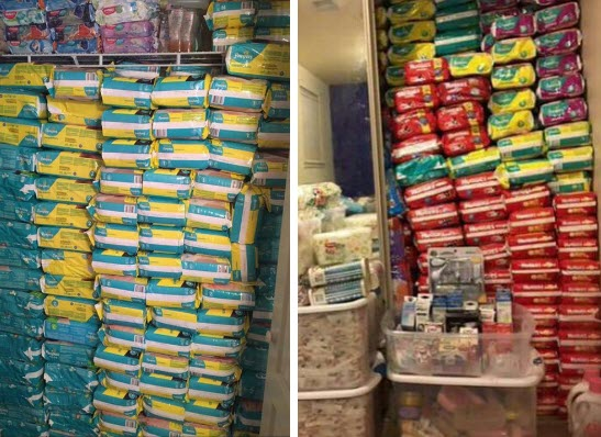 Free baby diapers for a year stockpile