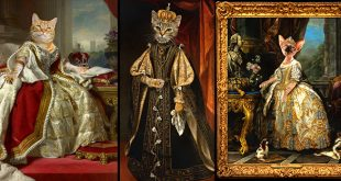 royal cat portrait painting